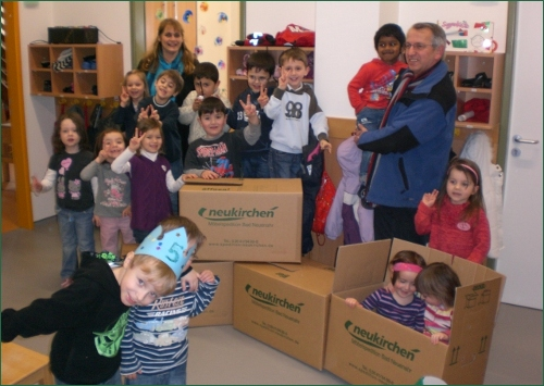 Spedition Neukirchen unterstützt Kindergartenumzug